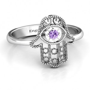Personalised Protection Hamsa Ring - Custom Made By Yaffie™