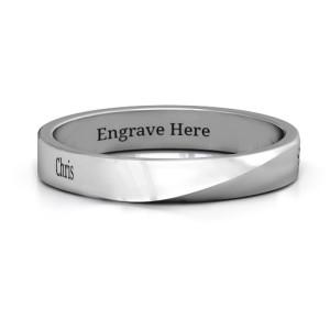 Personalised Ridge Diagonal Peak Women's Ring - Custom Made By Yaffie™