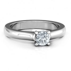 Personalised Simply Solitaire Ring - Custom Made By Yaffie™