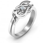 Personalised Snake Lover's Knot Ring - Custom Made By Yaffie™