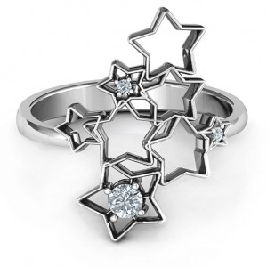 Personalised Sparkling Constellation Ring - Custom Made By Yaffie™