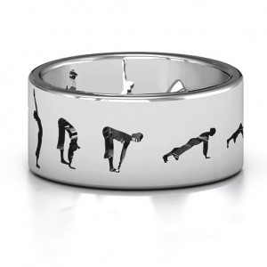 Personalised Sun Salutation Pose Ring - Custom Made By Yaffie™