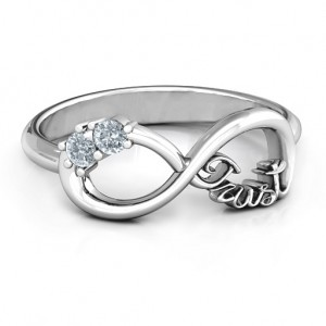Personalised Trust Infinity Ring - Custom Made By Yaffie™