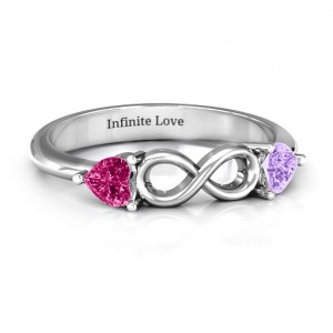 Personalised Two Hearts to Infinity Ring - Custom Made By Yaffie™