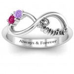 Personalised Two Stone Promise Infinity Ring - Custom Made By Yaffie™
