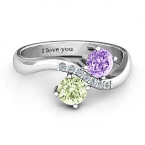 Personalised Storybook Romance Two Stone Ring - Custom Made By Yaffie™
