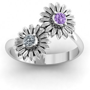 Personalised Sun Flowers Ring - Custom Made By Yaffie™