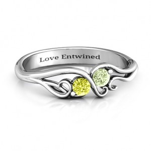 Personalised Swirl of Style Birthstone Ring - Custom Made By Yaffie™