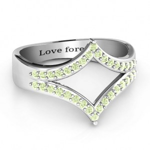 Personalised Symmetrical Sparkle Ring - Custom Made By Yaffie™