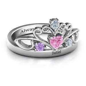Personalised Tale Of True Love Tiara ring - Custom Made By Yaffie™