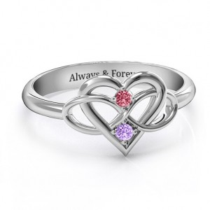 Personalised Together Forever TwoStone Ring - Custom Made By Yaffie™
