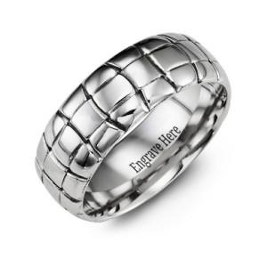 Personalised Tortoise Shell Cobalt Ring - Custom Made By Yaffie™