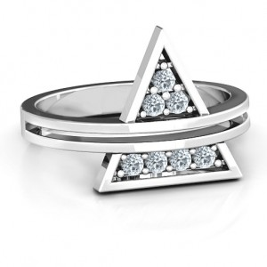 Personalised Triangle of Glam Geometric Ring - Custom Made By Yaffie™