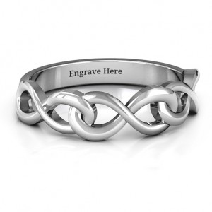 Personalised Triple Entwined Infinity Ring - Custom Made By Yaffie™