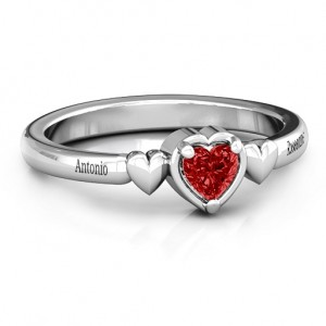 Personalised Triple Heart Ring - Custom Made By Yaffie™