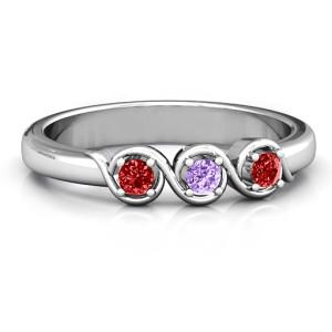 Personalised Triple Wave Ring - Custom Made By Yaffie™