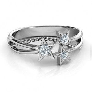 Personalised Twinkling Starlight Ring - Custom Made By Yaffie™