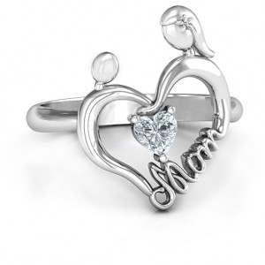 Personalised Unbreakable Bond Heart Ring - Custom Made By Yaffie™