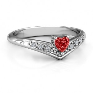 Personalised VAccented Heart Ring - Custom Made By Yaffie™