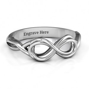 Personalised Wired for Love Infinity Ring - Custom Made By Yaffie™