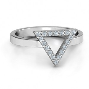Personalised Your Best Triangle with Accents Ring - Custom Made By Yaffie™