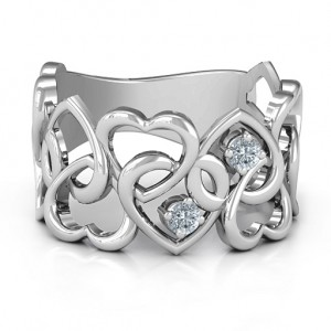 Personalised Your Heart and Mine Ring - Custom Made By Yaffie™