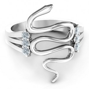 Personalised Zig Zag Snake Ring - Custom Made By Yaffie™