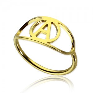 Personalised Eye Rings with Initial - Custom Made By Yaffie™