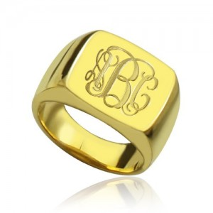 Personalised Fashion Monogram Initial Ring - Custom Made By Yaffie™