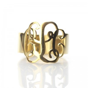 Personalised Personalised Monogram Ring - Custom Made By Yaffie™