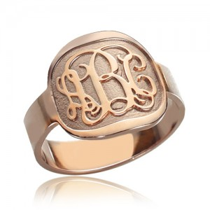 Personalised Engraved Round Monogram Ring - Custom Made By Yaffie™