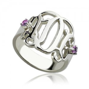 Personalised Birthstone Monogram Rings For Women - Custom Made By Yaffie™