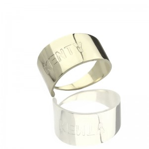 Personalised Engraved Name Cuff Rings - Custom Made By Yaffie™