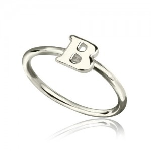 Personalised Women's Midi Initial Ring - Custom Made By Yaffie™