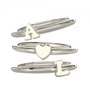 Personalised Stackable Midi Initial Ring - Custom Made By Yaffie™