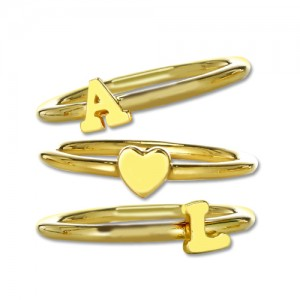 Personalised Stackable Initial Ring - Custom Made By Yaffie™