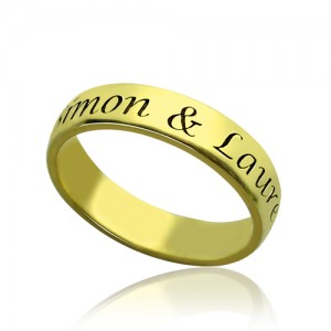 Personalised Engraved Promise Name Ring - Custom Made By Yaffie™