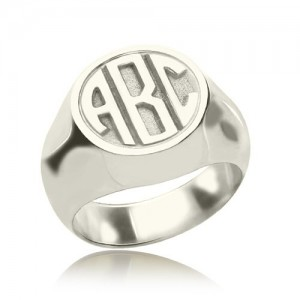 Personalised Signet Ring with Block Monogram - Custom Made By Yaffie™