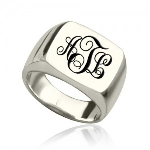 Personalised Signet Ring with Monogram - Custom Made By Yaffie™