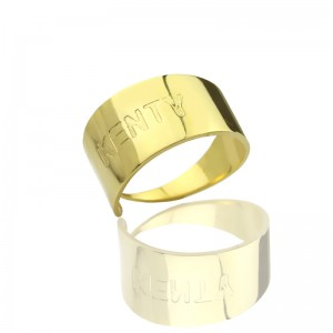 Personalised Name Engraved Cuff Rings - Custom Made By Yaffie™