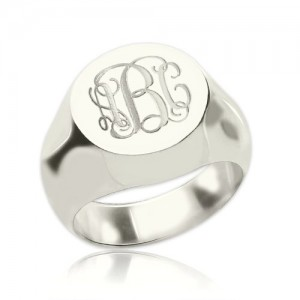 Personalised Signet Ring Engraved Monogram - Custom Made By Yaffie™