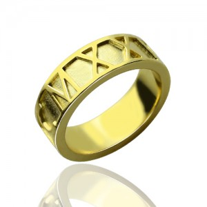 Personalised Roman Numeral Date Rings - Custom Made By Yaffie™