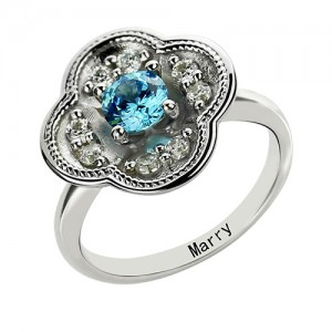 Personalised Birthstone Blossoming Love Engagement Ring - Custom Made By Yaffie™
