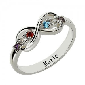 Personalised Infinity Name plate Rings for Her - Custom Made By Yaffie™