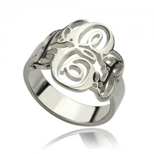 Personalised Fancy Monogram Ring - Custom Made By Yaffie™