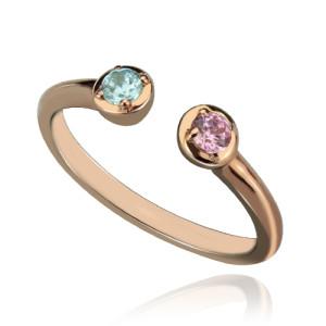 Personalised Dual Birthstone Ring - Custom Made By Yaffie™