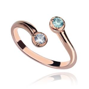 Personalised Dual Drops Birthstone Ring - Custom Made By Yaffie™