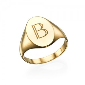 Personalised Initial Signet Ring - Custom Made By Yaffie™