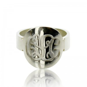 Personalised Make Your Own Monogram Itnitial Ring - Custom Made By Yaffie™