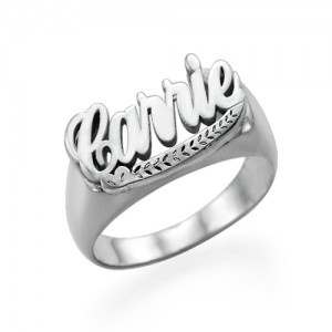 Personalised Carrie Name Ring - Custom Made By Yaffie™